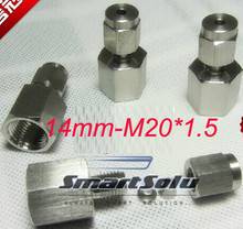 free shipping  2pc/lots for 14mm-M20*1.5  stainless steel female compression fittings stainless steel elbow connectors
