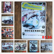 HOCKENHEIM Motorcycle Race for Vintage House Hall tin sign Lounge Club Pub Cafe Plaque Bar Shop Poster Plate Wall Decor 20*30CM