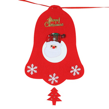 Luyue Non-woven Fabric Xmas Flags Santa Clause Floral Bunting Banners Merry Christmas Party Decoration Home Shop Market Decor