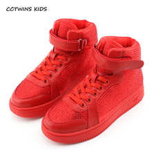 Buy CCTWINS KIDS 2017 Toddler Fashion Stud Black Shoe Baby Girl Kid High Top Warm Sneaker Children Glitter Rivet Trainer F1911 for $28.80 in AliExpress store