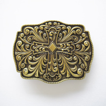 Distribute Belt Buckle Classic Antique Bonze Plated Western Cross Belt Buckle Free Shipping 6pcs Per Lot Mix Style is Ok