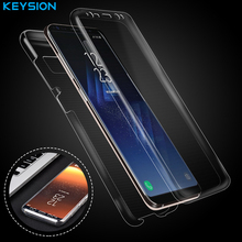 Keysion Case for Samsung Galaxy S8 S8 Plus 360-degree all-inclusive ultra-thin transparent soft 2 in 1 TPU Cover for G950 G955(China)