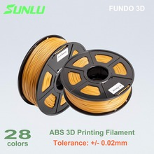 10 pcs 1.75mm ABS filament for 3D printing with 0.02mm tolerance and no bubble(China)