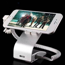 Remote Control Cell Mobile phone security alarm display stand holder for anti-theft with charging function