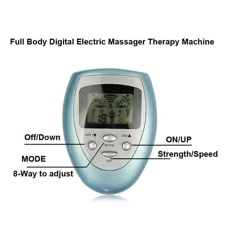 Full Body Massager Pain Relief Fitness Tens Digital Therapy Machine Useful New High Quality(China (Mainland))