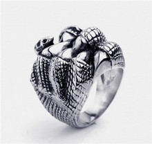 Tiger Totem free shipping quality Individuality Fashion trend wholesale Rough finger rings Titanium steel sell well accessories(China)