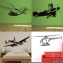 Cheap Airplane Wall Sticker Bedroom Removable Vinyl Adhesive Home Decor Wall Decals Mural Transportation Free Shipping