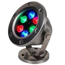 Led Underwater Lights 6W AC/DC12/24V Fountain Pool Lamp RGB Colorful Spotlights Stainless Steel Park Outdoor Landscapet Lighting