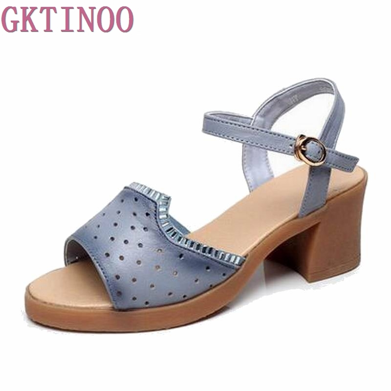 2018 Women shoes summer sandals female handmade genuine leather women casual comfortable woman shoes sandals women summer shoes<br>