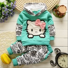 BibiCola Newborn Spring Autumn Hoodies Set Baby Girls Clothing Litter Child clothes sport suit infant Girl sweatshirt outerwear(China)