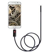 7mm Mini Micro USB Android Phone OTG Endoscope Camera 2M Cable IP67 Waterproof Snake Tube Pipe Inspection 480p HD IP Camera