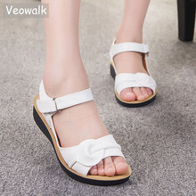 Buy Big Size 35-41 Summer Women Genuine Leather Sandals Vintage Ladies Flat Sandials Ankle Strap Fashion Casual Platforms Soft Shoes for $16.87 in AliExpress store