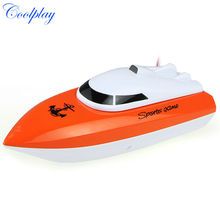 Coolplay charging outdoor toys radio control RC 4 Channels Waterproof Mini speed boat Airship CP802 as gift for children(China)