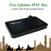 GOTiT HDWorld F6 DVB-S2 Satellite Receiver with Lifetime Free IPTV Arabic UK Indian IPTV Subscription Be1n O5n M8C Canal+