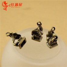 14*9MM Antique Bronze Vintage gramophone charm pendant beads mobile phone accessories, Korean jewelry making Phonograph charm