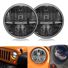 "36W 7"" Round  LED Headlight Headlamp Auto Car Motorcycle H4 fog light  For Jeep Wrangler TJ JK YJ Toyota Hummer Benz"