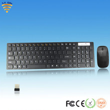 Multimedia 2.4GHz Ultrathin Wireless Desktop Keyboard With Optical Mouse USB Dongle Combo Set For DESKTOP PC Laptop Promotion
