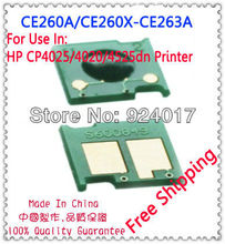 Compatible Printer HP CP4025 CP4525 CP4540 4025 Toner Chip,For HP CE260A CE260X CE261A CE262A CE263A Reset Toner Chip,10*Sets(China)