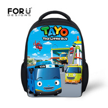 FORUDESIGNS TAYO Bus/Star Wars School Backpacks for Teens Boys Kids School Bags Cartoon Kindergarten Children's Haversack Gift(China)