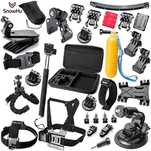 Buy SnowHu Gopro Accessories set go pro hero 5 4 3 kit mount SJCAM SJ7000 xiaomi yi 4K camera eken h9 GS16 for $35.10 in AliExpress store