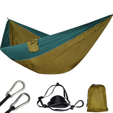 Large Parachute Hammock Hanging Lightweight Nylon Hamac Survival Outdoor Camping 210T