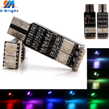 YM E-Bright! 10pcs 12V DC New Strobe W5W 5050 6 SMD 7 Colors 14 Patterns T10 Strobe LED Turn Signal Light Lamp(China)