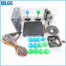Arcade Games DIY Kit with 520 in 1 Multi Games CGA/VGA Output with Coin Acceptor/Jamma Wire/Arcade Joystick/Buttons/Speaker(China)