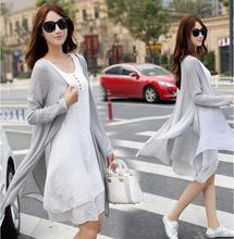9029 2017 long sleeve length skirt fluid one-piece dress vintage twinset casual linen skirt set for Pregnant Clothes(China)