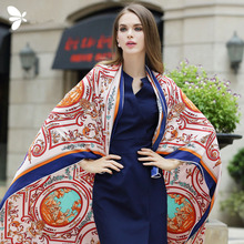 Fashion spain euro winter autumn summer Pashmina geometric garden baby angel print scarf cheap silk scarves free shipping canada