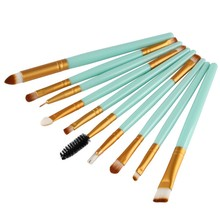 10 Pcs/Set Pro Beauty Eye Shadow Eyeliner Cosmetic Makeup Brush Brushes Set Tool YO B2
