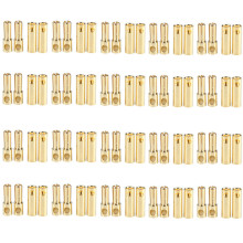 20 Pairs/lot Brushless Motor Banana Plug 5.0mm 5mm Gold Bullet Connector Plated for ESC Battery RC Helicopter Parts Accessories(China)
