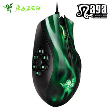 Razer Naga Hex MOBA PC Gaming Mouse 5600dpi Razer Mouse 3.5G Laser Sensor Computer Mice 10 Million Click Life Cycle Green/Red(China)