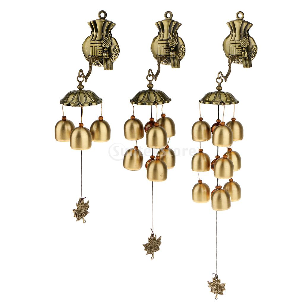 Chinese Wind Chime Lucky Bag Feng Shui Yard Garden Outdoor Decor 3 Types