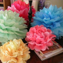 Popular large tissue paper flowers buy cheap large tissue paper 1pcs diy 1230cm large pompon tissue paper pom poms kissing balls for home decoration festive party supplies wedding favors mightylinksfo