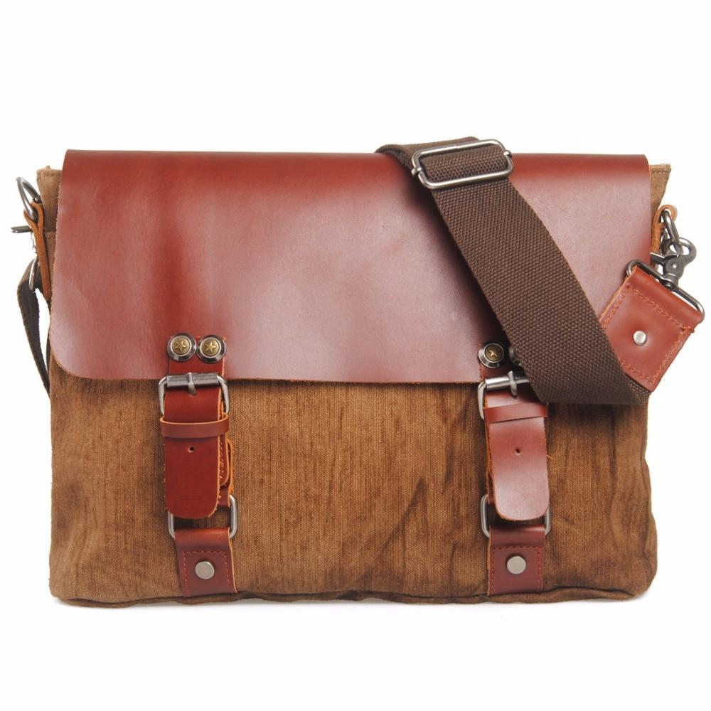 Newest Canvas Men Messenger Bags Leisure Satchel Retro School Shoulder Bag Student Cross Body Bag Man Khaki Travel Sling Bag<br><br>Aliexpress