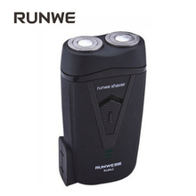 Runwe Rechargeable Electric Both Work Razor For Men Electric Shavers Mini Black Face Care Shaving Machine Portable Rasior RS862(China)
