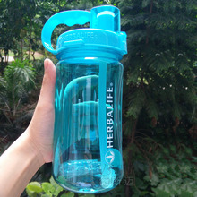 1L/ 2L 6 color 2000ML Black white pink Green pink with Straw strap water bottle Plastic Material Travel bottle Herbalife