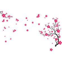 Oujing Warm Fresh Plum Blossom Wall Sticker Decal Removable PVC Wall Sticker Home Decor mirror wall stickers pegatinas de pared(China)