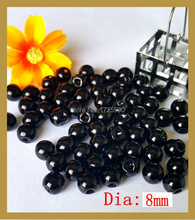 200 pcs side hole ,Black Pearl Button Bulk 8 mm Round loose Button Craft Buttons Scrapbooking Products Handmade Accessories