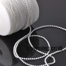 Fishing Line Artificial White Pearls Beads Chain Garland Flowers Wedding Party Decoration 5 Meters CP0319x(China)
