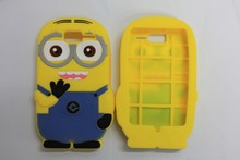 Luxury Cute 3D Lovely Kawaii Despicable Me 2 Minions silicon Phone case back cover for motorola razr xt916 xt918 D1(China)