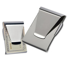 Stainless Steel Money Clip metal Business Card Credit Card Cash Wallet Polished Free Shipping SS1(China)