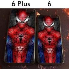 2015 Authentic Spidey Background pattern Cases For iPhone 6 and 6 plus hard PC Material Plastic Phone Case