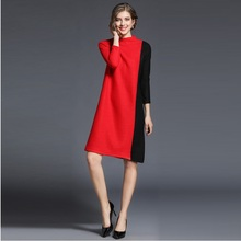 Lguc.H Spring Women's Knitted Dress Plus Size Slim Sweater Dresses 2018 Trendy Casual Office Party Dress Tide Elegant Vestidos L(China)