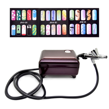 New Fashion Airbrush Pen Kit Makeup Spray Gun for Body Nail Paint with Air Compressor, Horse,2 Stencil