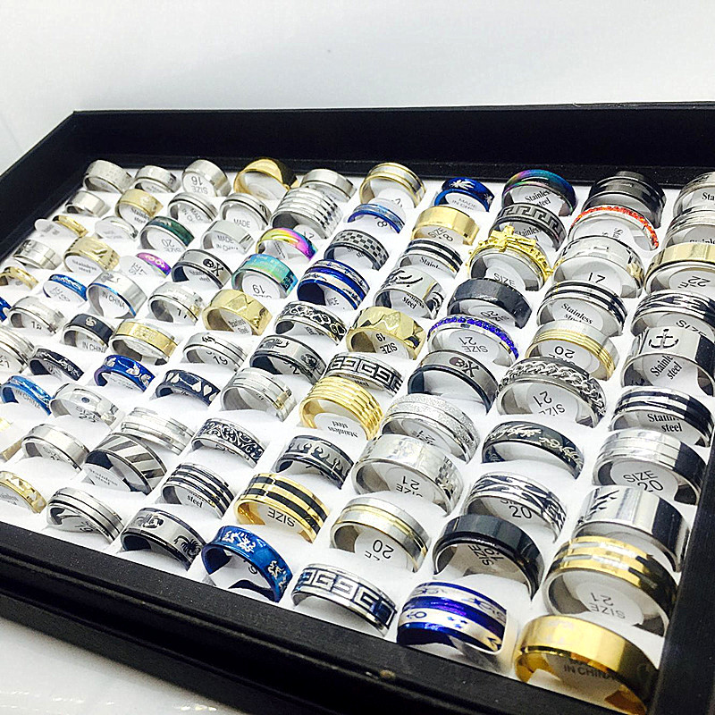 Unisex Set Of Stainless Steel Rings [ 100 piece lot ] 2