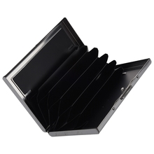 ASDS Waterproof Aluminum Pocket Wallet Business Credit Card Portable Holder Case Black(China)
