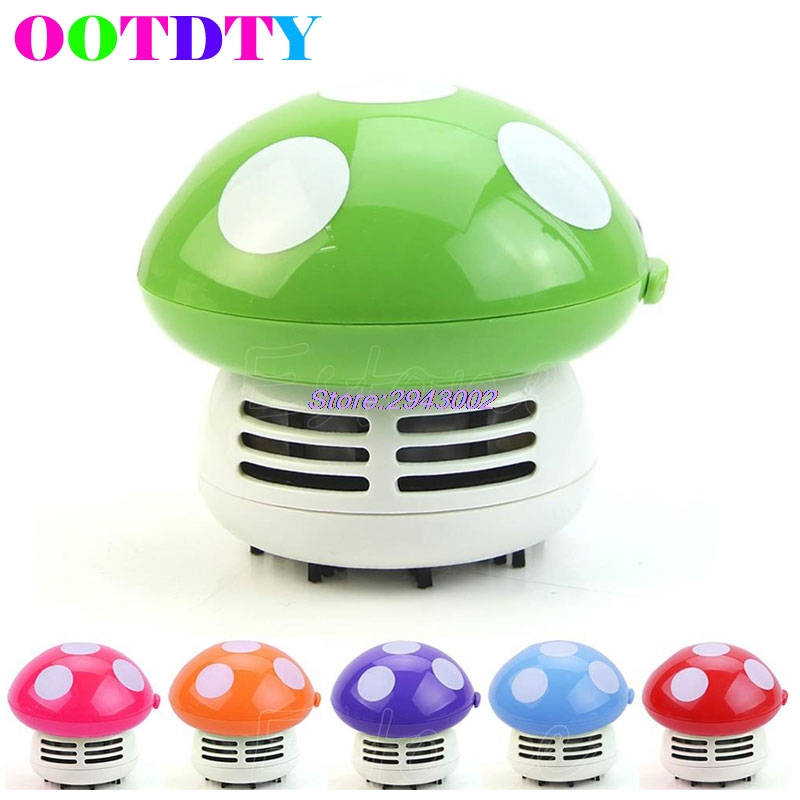OOTDTY Mini Cute Mushroom Vacuum Desk Table Dust Cleaner Sweeper Corner APR10_40(China (Mainland))