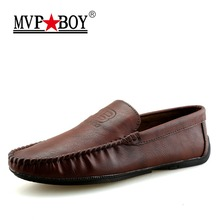 Buy MVP BOY 2018 New Slip Casual Men Loafers Spring Autumn Mens Moccasins Shoes Leather Men's Flats Shoes for $22.71 in AliExpress store