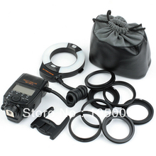 Meike TTL MK-14EXT LCD LED Macro Ring Flash light for Canon 5D III 6D 650D 500D 1000D 450D camera
